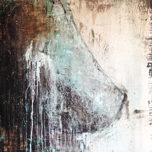 Nude no 3, abstract nude painting by Wiktoria Florek