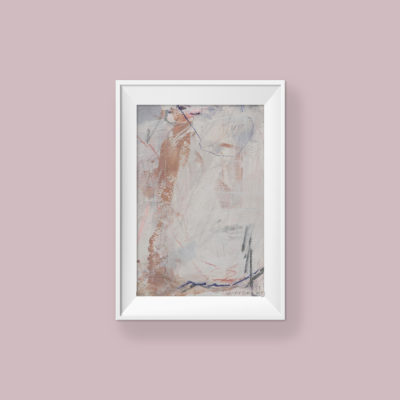 Abstract Painting_My heart is warm when you're with me_WFA_frame