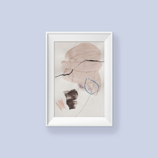 Abstract painting_Always be you_frame