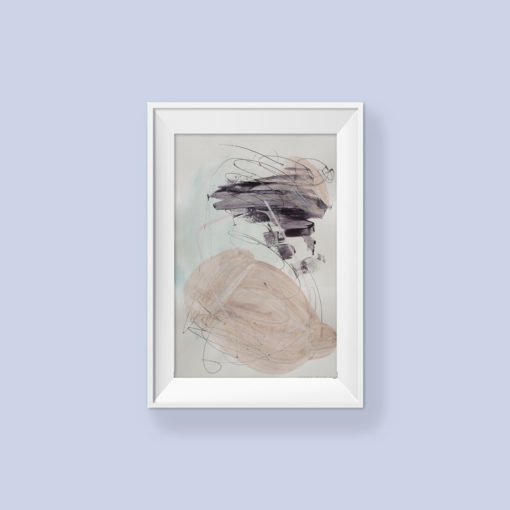 Abstract painting_I love you for everything_frame