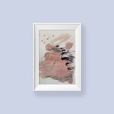 Abstract painting_I'll always comfort you_frame