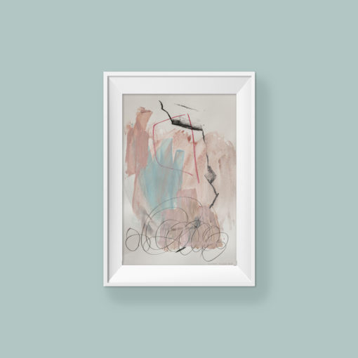 Abstract painting_Live your way_frame