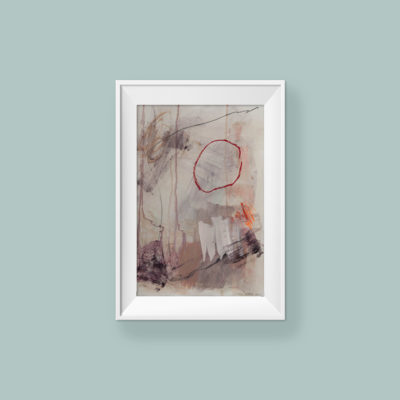 Abstract painting_Love yourself dearly_frame