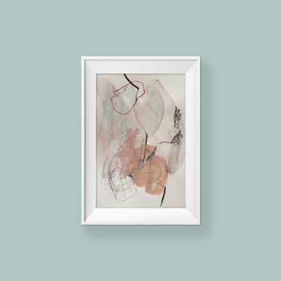 Abstract painting_Lullaby - aaa sleep my baby_frame