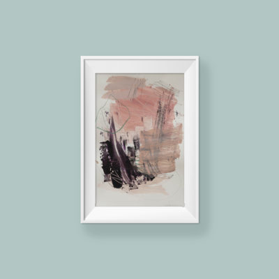 Abstract painting_My sweet baby smile, don't cry_frame