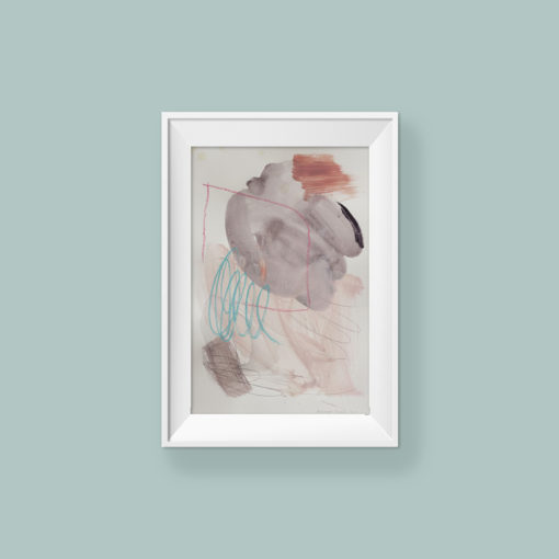 Abstract painting_You can be whoever you want_WFA_frame
