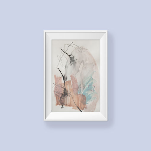 Abstract paitning_I will always be there for you_frame