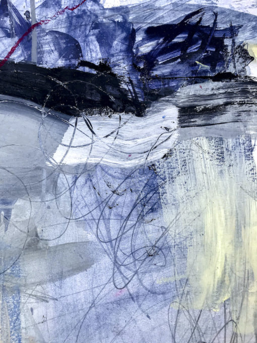 Blue Lagoon no 2 abstract painting detail
