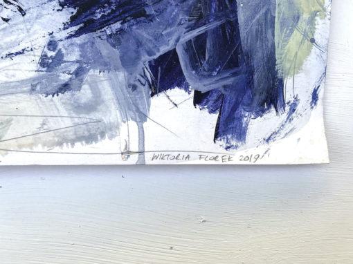 Blue Lagoon no 2 abstract painting signature