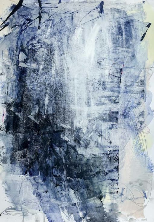Abstract Painting Wiktoria Florek Blue Lagoon no 3
