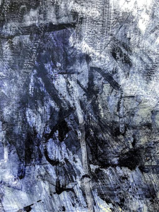 Blue Lagoon no 3 abstract painting detail