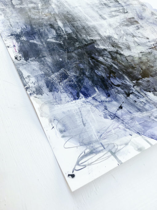 Blue Lagoon no 3 abstract painting perspective