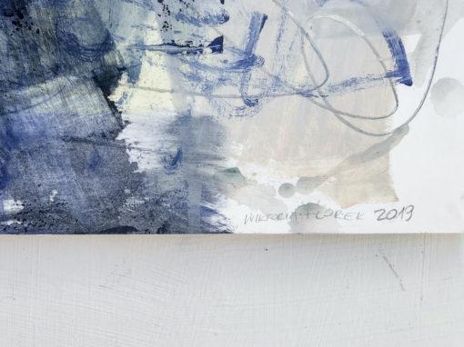 Blue Lagoon no 3 abstract painting signature