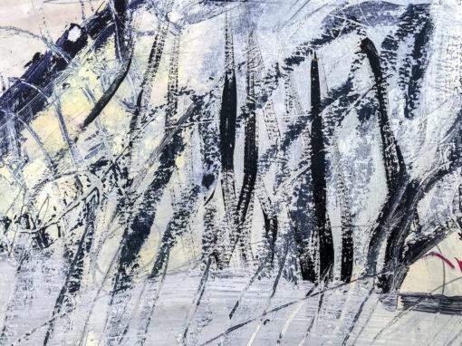 Blue Lagoon no 4 abstract painting detail