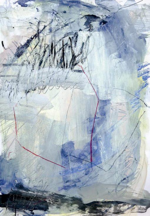 Blue Lagoon no 4 Abstract Painting Wiktoria Florek