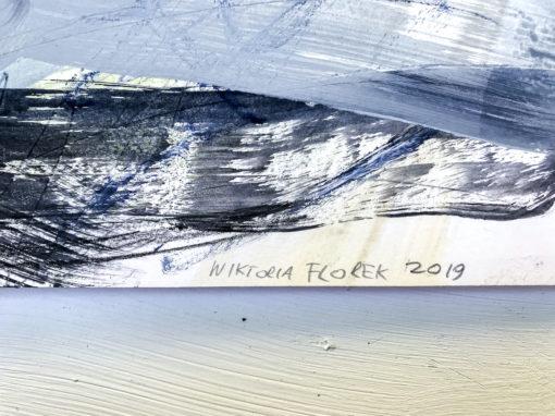 Blue Lagoon no 4 abstract painting signature