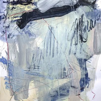 Blue Lagoon no 5 Abstract Painting Wiktoria Florek