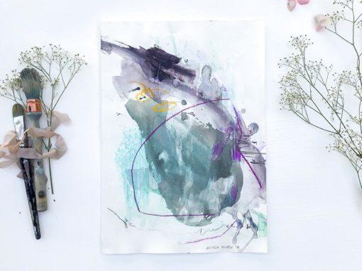 Aqua Moment abstract painting