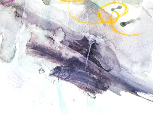 Aqua Moment abstract painting detail
