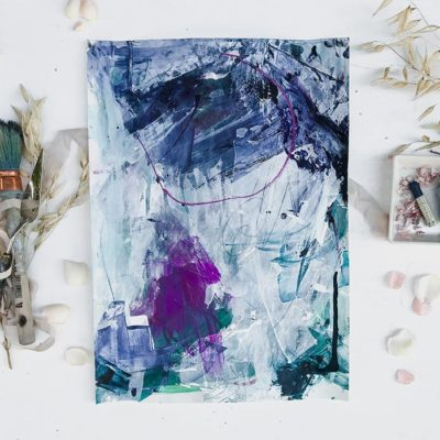Blue and Green - Beauty, Abstract Painting, Wiktoria Florek