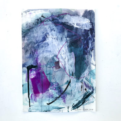 Blue and Green - Excitement abstract painting