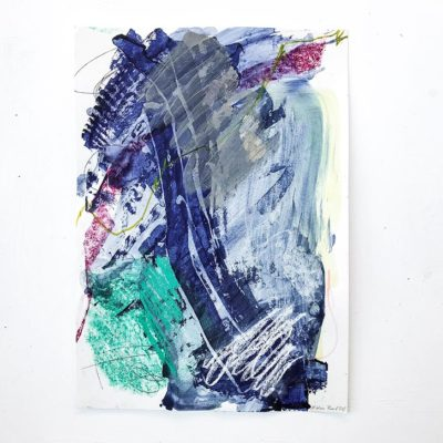 Blue and Green - Fresh abstract painting