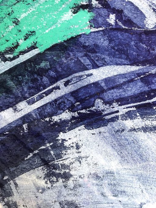 Blue and Green - Fresh abstract painting detail