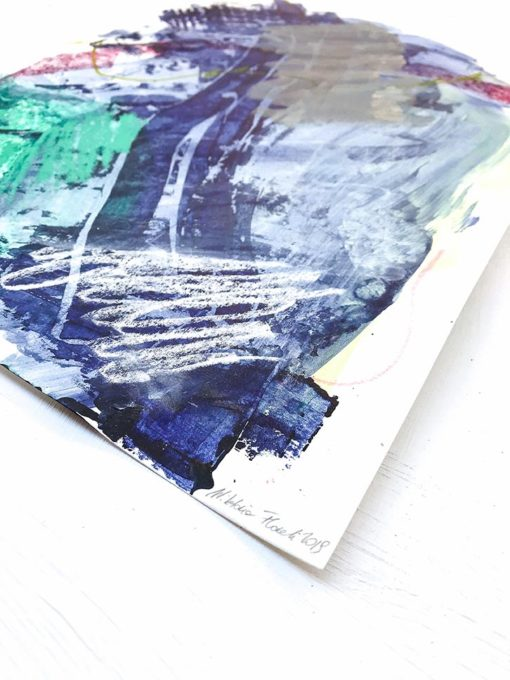 Blue and Green - Fresh abstract painting perspective