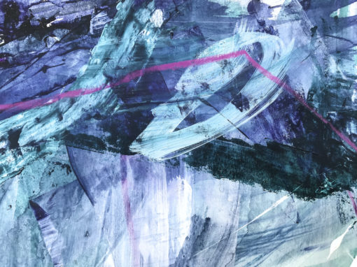Blue and Green - Magic abstract painting detail