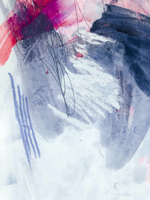 Blue and Pink - Love no1 detail abstract painting