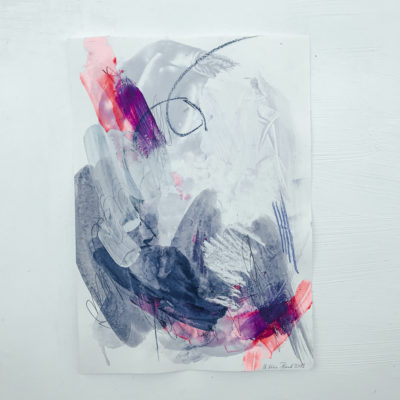 Blue and Pink - Love no1 abstract painting