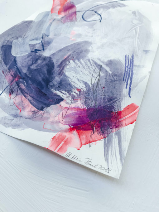 Blue and Pink - Love no1 perspective abstract painting