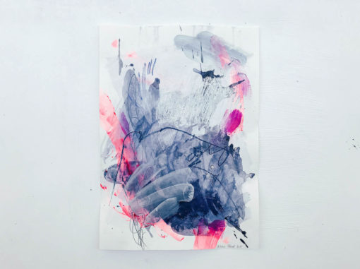 Blue and Pink - Love no2 abstract painting