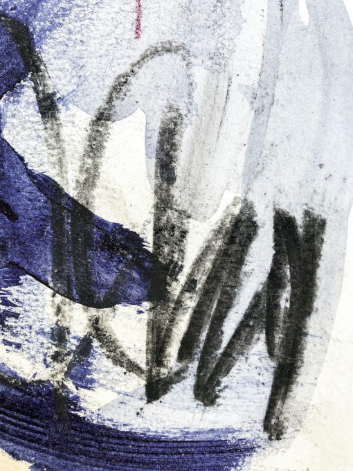 Blue abstract painting detail