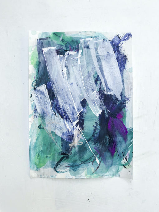 Green no 1 abstract painting