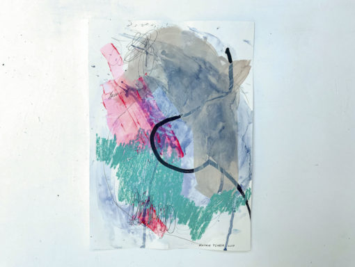 Green_Pink abstract painting
