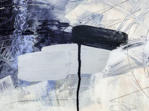 Blue Lagoon no 1 abstract painting detail
