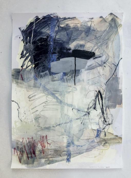 Blue Lagoon no 1 abstract painting
