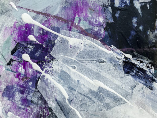Purple abstract painting detail