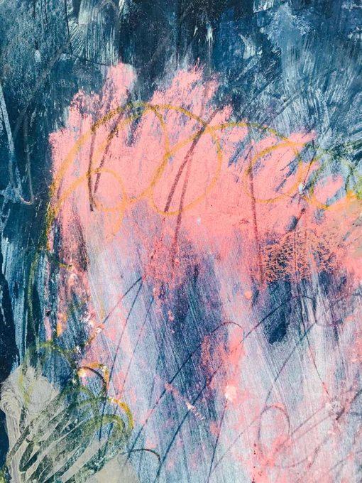 Blue Sky Abstract Painting Detail Wiktoria Florek