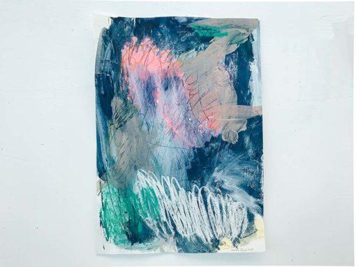 Blue Sky Abstract Painting Wiktoria Florek