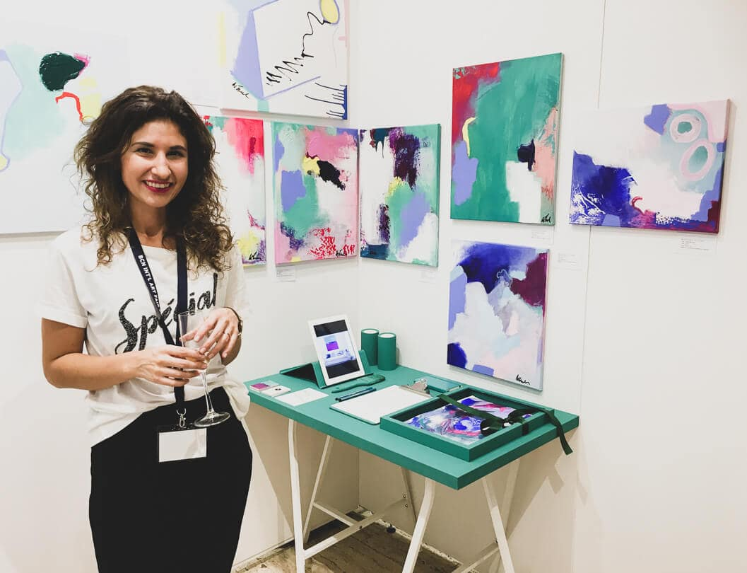 Wiktoria Florek abstract artist barcelona art fair